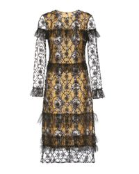 Burberry | Multicolor Dress With Tulle Overlay | Lyst