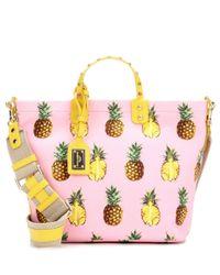 Dolce & Gabbana Pink Printed Canvas Tote Bag
