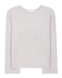 Helmut Lang | Gray Wool And Cashmere Sweater | Lyst