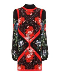 Alexander McQueen Red Silk Mini Dress