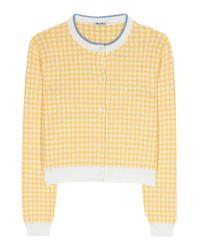 Miu Miu | Yellow Cotton Cardigan | Lyst