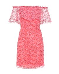 Giamba | Embroidered Organza Off-the-shoulder Dress | Lyst