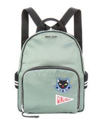 Lyst - Miu Miu Appliquéd Backpack in Green faadc0b8368f4