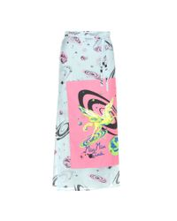 Miu Miu | Multicolor Printed Cotton Wrap Skirt | Lyst