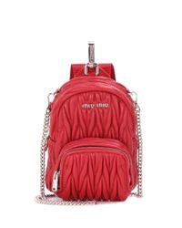 Miu Miu | Red Leather Shoulder Bag | Lyst