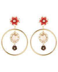 Dolce & Gabbana Metallic Exclusive To Mytheresa. Com – Embellished Clip-on Earrings