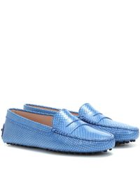 Tod's Blue Gommino Moccasins