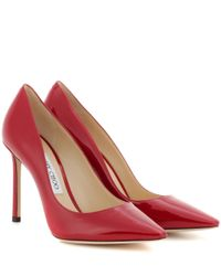 Jimmy Choo   Red Romy 100 Patent Leather Pumps   Lyst