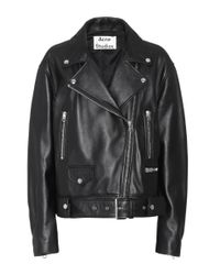 Acne Black Merlyn Leather Jacket