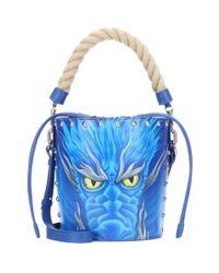 J.W.Anderson - Blue Leather Dragon Bucket-bag - Lyst