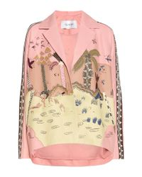 Valentino | Multicolor Embroidered Nappa Leather Jacket | Lyst