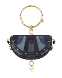 Chloé Blue Nile Minaudière Small Leather Shoulder Bag