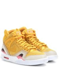 Nike Yellow Air Tech Challenge Ii Suede Sneakers