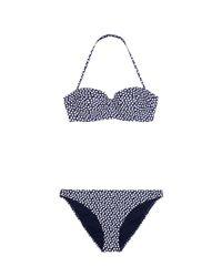 Tory Burch Blue Polka-dot Bikini