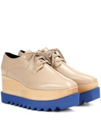 Stella McCartney | Natural Elyse Platform Derby Shoes | Lyst