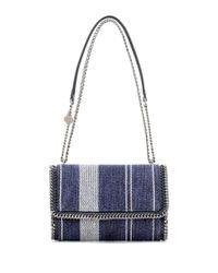 Stella McCartney | Blue Falabella Cotton Shoulder Bag | Lyst