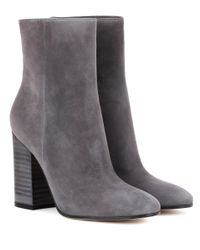 Gianvito Rossi Gray Suede Ankle Boots