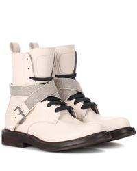 Brunello Cucinelli - Multicolor Embellished Leather Boots - Lyst
