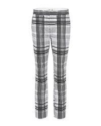 Diane von Furstenberg Multicolor Darnley Plaid Cotton Trousers