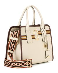 Marc Jacobs Natural Big Shot Leather Tote