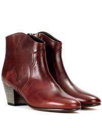Isabel Marant Brown Ankle Boots Dicker aus Leder