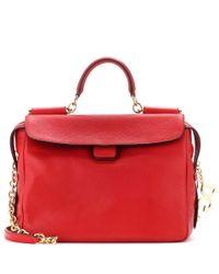 Dolce & Gabbana Red Leather Shoulder Bag