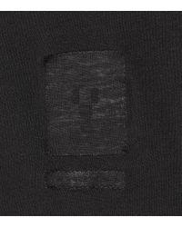 Rick Owens Black T-Shirt aus Baumwolle