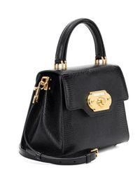 Bolso al hombro Welcome de cuero Dolce & Gabbana de color Black