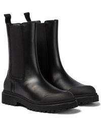 Moncler Black Chelsea Boots Patty aus Leder