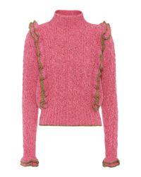 Philosophy Di Lorenzo Serafini Pink Knit Ruffled Top