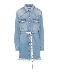 Miniabito di jeans di Off-White c/o Virgil Abloh in Blue