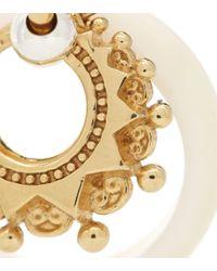 Argollas con baño de oro de 18 ct Bottega Veneta de color Metallic