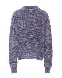 Pull en laine mélangée Zora Acne en coloris Blue
