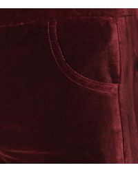 Pantaloni Paradise in velluto di MiH Jeans in Red