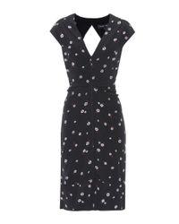 Proenza Schouler Black Printed Silk Dress