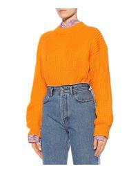 Acne Blue Myrja High-rise Straight Jeans