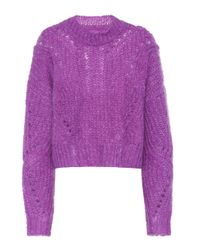 Isabel Marant Purple Irren Mohair And Wool-blend Sweater