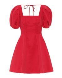 Self-Portrait Red Minikleid mit gepufften Ärmeln