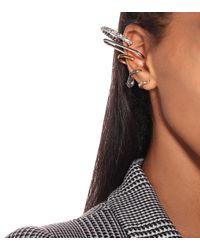 Boucle d'oreille unique à cristaux Alexander McQueen en coloris Multicolor