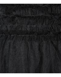 RED Valentino Black Midikleid aus Tüll
