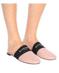 Givenchy Pink Slippers Bedford aus Leder