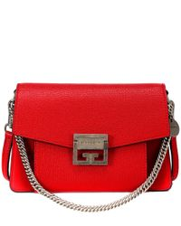 Borsa a tracolla GV3 Small in pelle di Givenchy in Red