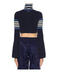 Pull à col roulé en coton raccourci PUMA en coloris Blue