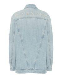 Chaqueta de jeans con logo bordado Givenchy de color Blue