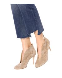Gianvito Rossi - Natural Exclusive To Mytheresa. Com – Vamp 85 Suede Ankle Boots - Lyst