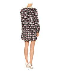 Gucci Black Bedrucktes Kleid aus Baumwolle