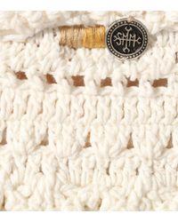 She Made Me White Amira Crocheted Bandeau Bikini Top