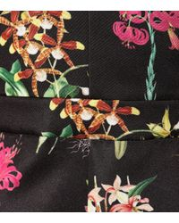 N°21 Black Floral-printed Satin Dress
