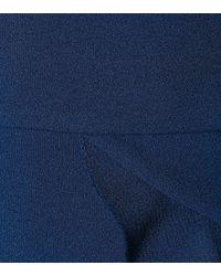 Robe courte à volants Aegean Rebecca Vallance en coloris Blue