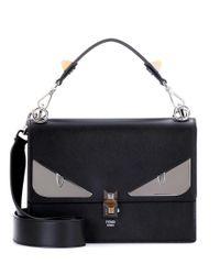 Fendi Black Kan I Leather Shoulder Bag